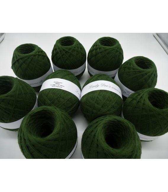 1kg High bulk acrylic yarn - fir green - 10 balls - image 2