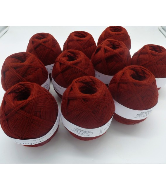 1kg High bulk acrylic yarn - Ox blood - 10 balls - image 1