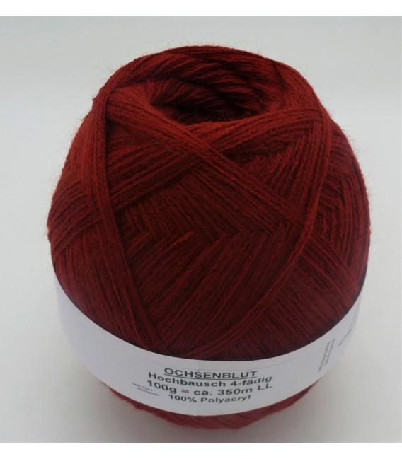 1kg High bulk acrylic yarn - Ox blood - 10 balls - image 2