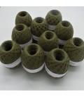 1kg High bulk acrylic yarn - Lead - 10 balls