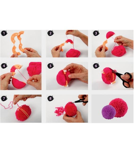 Pom Pom Makers 8 pièces - Photo 1