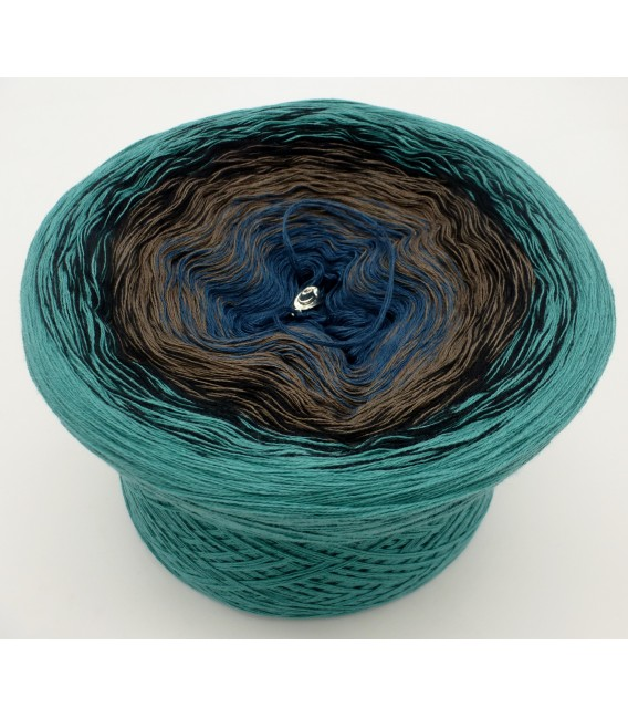 gradient yarn 4ply Cowboy - Ocean green outside
