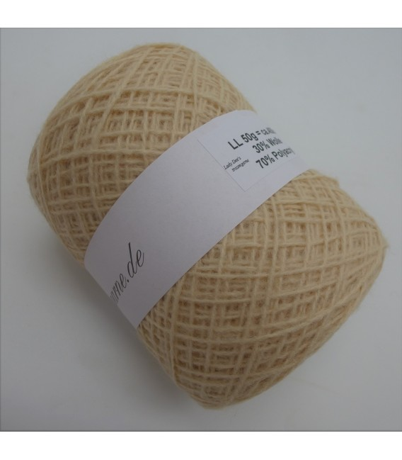 wool-acrylic mixture - eggshell - 50g