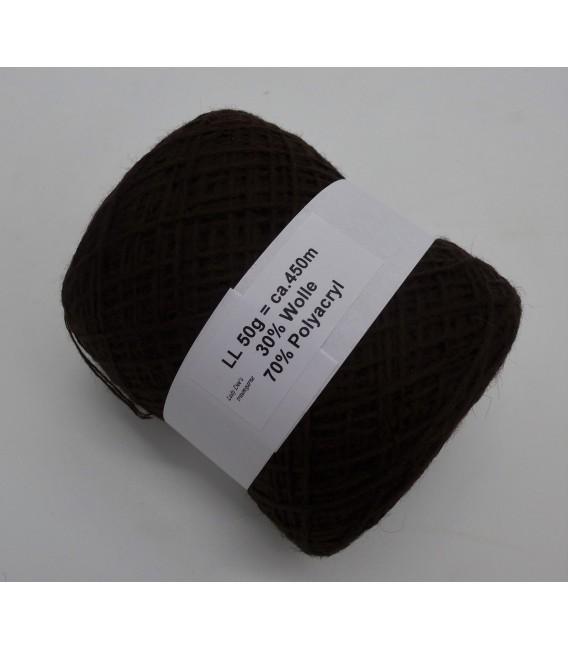 Woll-Acryl-Gemisch - Schoko - 50g