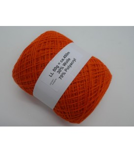 Шерстяно-акриловая смесь - оранжевый - 50g