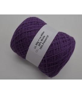Шерстяно-акриловая смесь - Виолетта - 50g