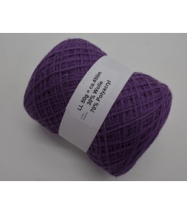 wool-acrylic mixture - violets - 50g