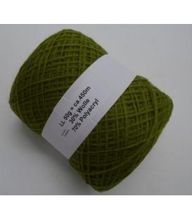 Шерстяно-акриловая смесь - папоротник зеленый - 50g