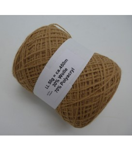 wool-acrylic mixture - hazelnut - 50g