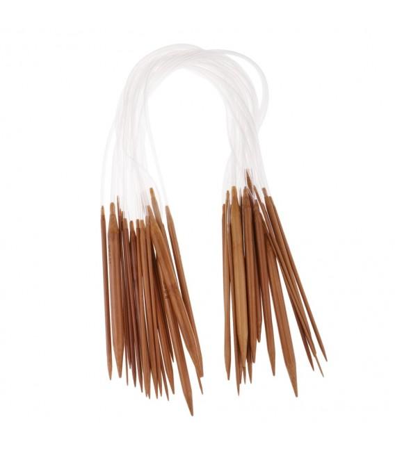 Bamboo circular needles - 18-piece set - image 3