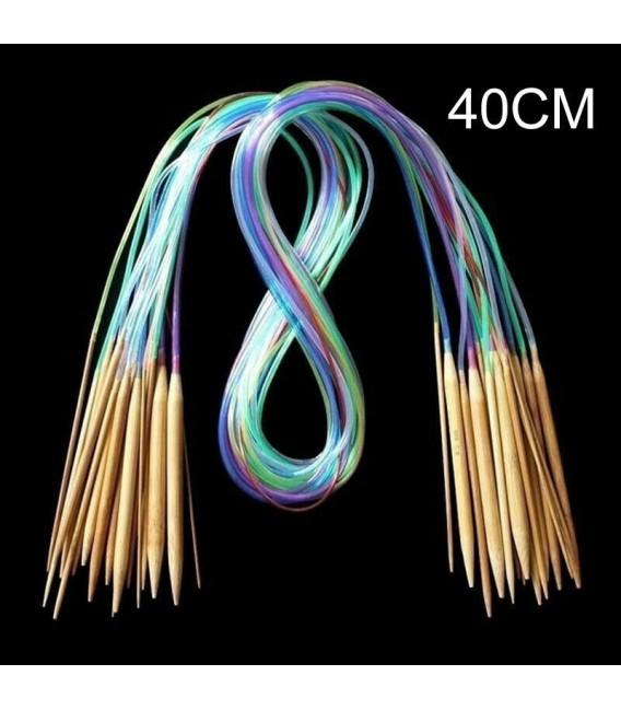 Bambus Rundstricknadeln Multicolor - 18-teiliges Set - Bild 5