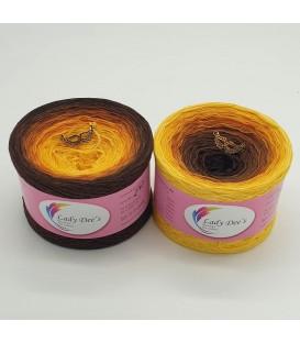 Sonnenblume - 4 нитевидные градиента пряжи