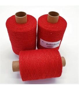 Glitter yarn - glitter thread Salsa Red - pack