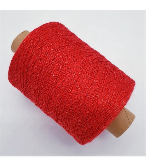 Glitter yarn - glitter thread Salsa Red - pack