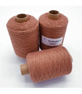 Glitter yarn - glitter thread Honey-Kupfer - pack
