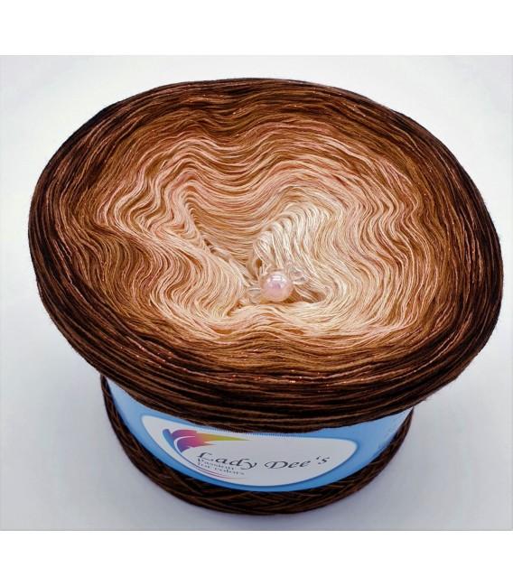Apricot küsst Schokolade - Farbverlaufsgarn 4-fädig - Bild 5