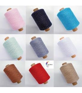 Glitter yarn - glitter thread - 1000m