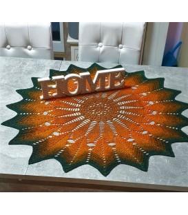 Sonnenkuss - patron au crochet - couverture étoile - allemand