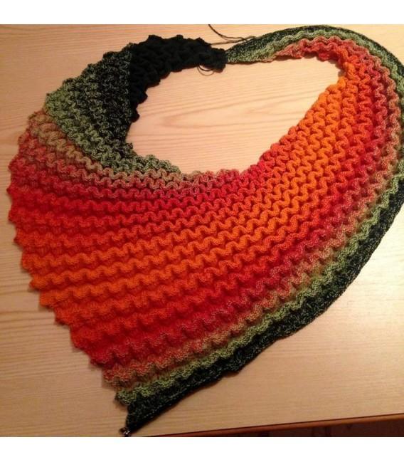 Farbverlaufsgarn 4-fädig Goldener Herbst - Orange aussen 5