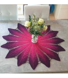Windrad - Схема вязания крючком - одеяло в виде звезды - на английском языке