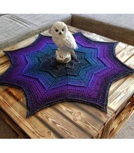 Aurora - crochet Pattern - star blanket - german