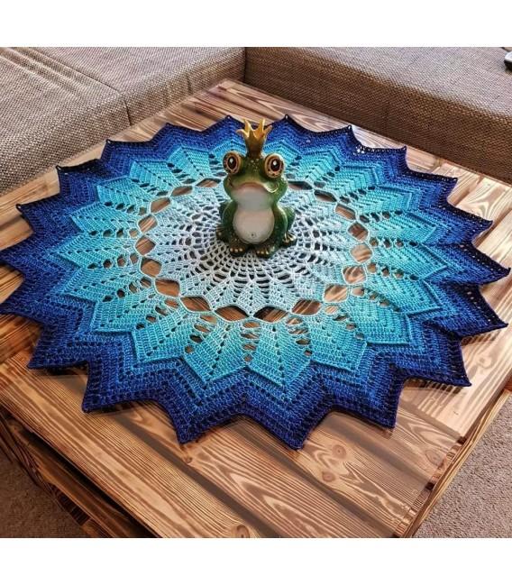Summer Blues - crochet Pattern - star blanket - german