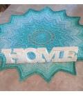 Summer Blues - crochet Pattern - star blanket - english