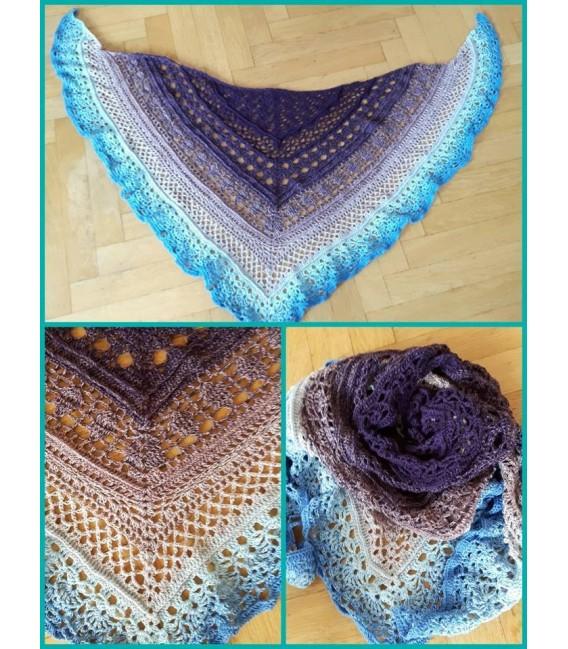 gradient yarn 4ply Mr. Moon - Ciel outside 5