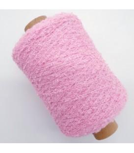 Auxiliary yarn - Bouclé yarn pink - 500m