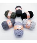 5 lace yarns Uni + 1 skein free - (21-42-34-68-09-16)