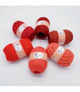 5 lace yarns Uni + 1 skein free - (26-28-41-24-45-66)