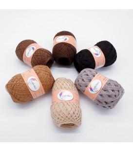 5 lace yarns Uni + 1 skein free - (61-81-63-75-64-39)