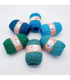 5 lace yarns Uni + 1 skein free - (85-91-113-22-12-01)