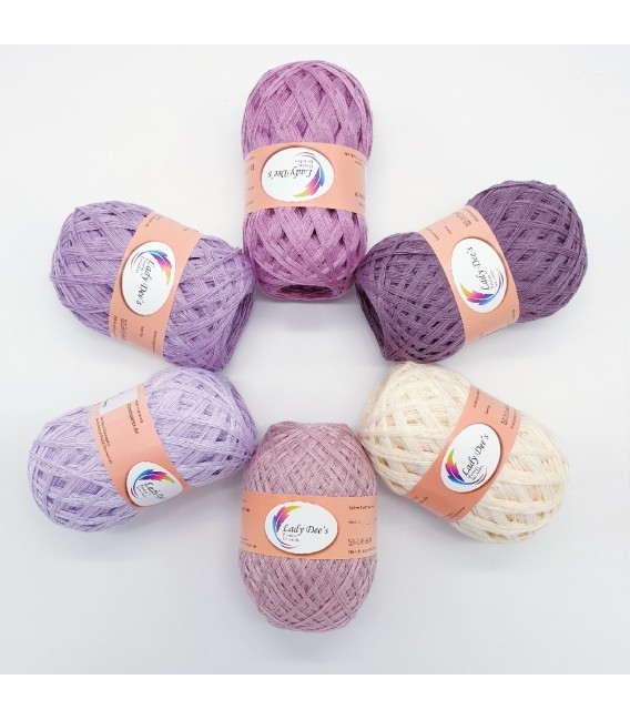 5 lace yarns Uni + 1 skein free - (60-25-52-06-53-18)