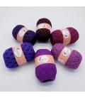 5 lace yarns Uni + 1 skein free - (14-90-19-32-84-86)