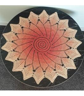Wüstenblume - crochet Pattern - star blanket - german