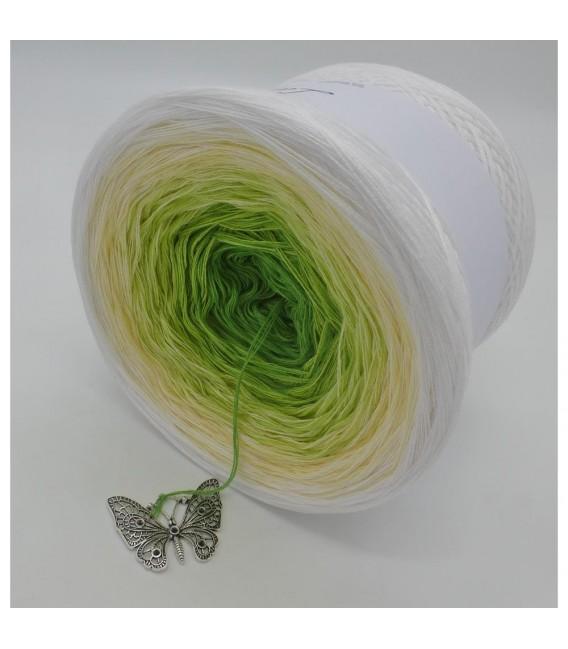 Farbverlaufsgarn 4-fädig April Bobbel - Froschgrün aussen