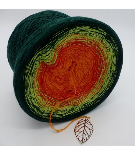 Farbverlaufsgarn 4-fädig Goldener Herbst - Orange aussen