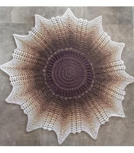 Venus - Схема вязания крючком - одеяло в виде звезды - на немецком языке