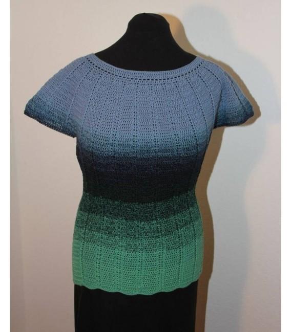 gradient yarn 4ply Amazonas - green mottled outside 5