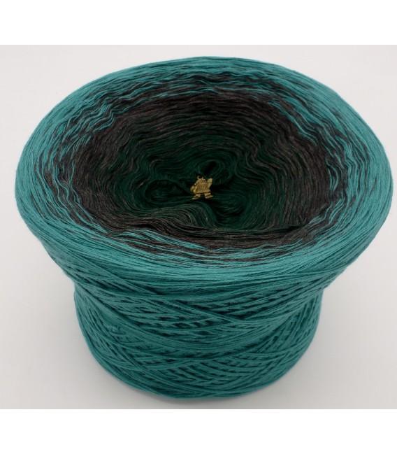 Farbverlaufsgarn 4-fädig Tannenduft - Oceangrün aussen