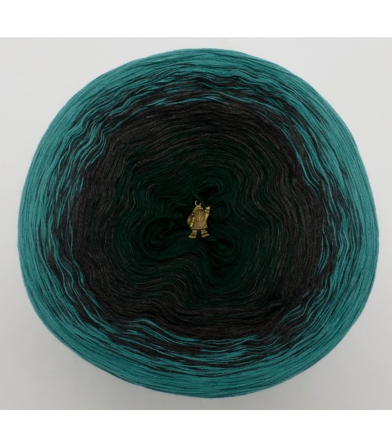 Farbverlaufsgarn 4-fädig Tannenduft - Oceangrün aussen 2