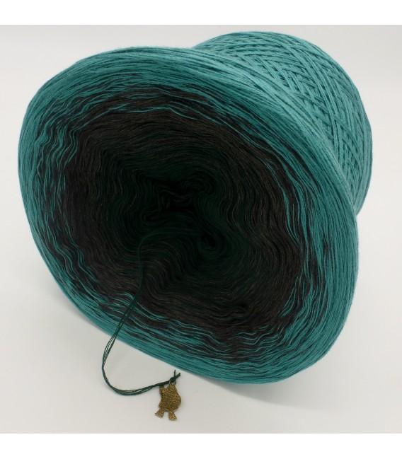 Farbverlaufsgarn 4-fädig Tannenduft - Oceangrün aussen 4