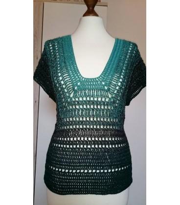 gradient yarn 4ply Tannenduft - fir green outside 5