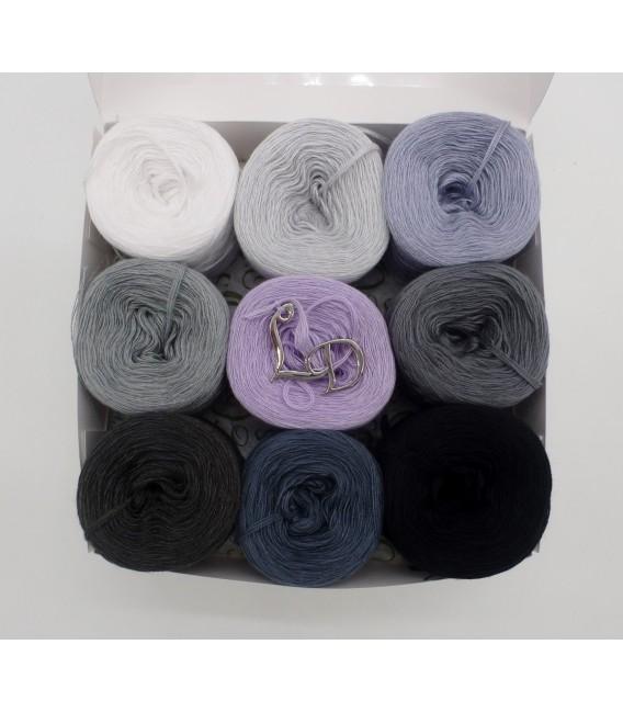 Un paquet Bobbelinchen Lady Dee's Farben des Lebens (Couleurs de vie) (4 fils - 900m) - Teintes grises - Photo 1