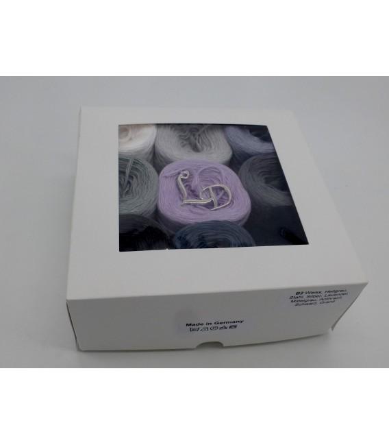 Un paquet Bobbelinchen Lady Dee's Farben des Lebens (Couleurs de vie) (4 fils - 900m) - Teintes grises - Photo 3