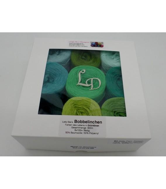 Un paquet Bobbelinchen Lady Dee's Farben des Lebens (Couleurs de vie) (4 fils - 900m) - Teintes verte - Photo 6