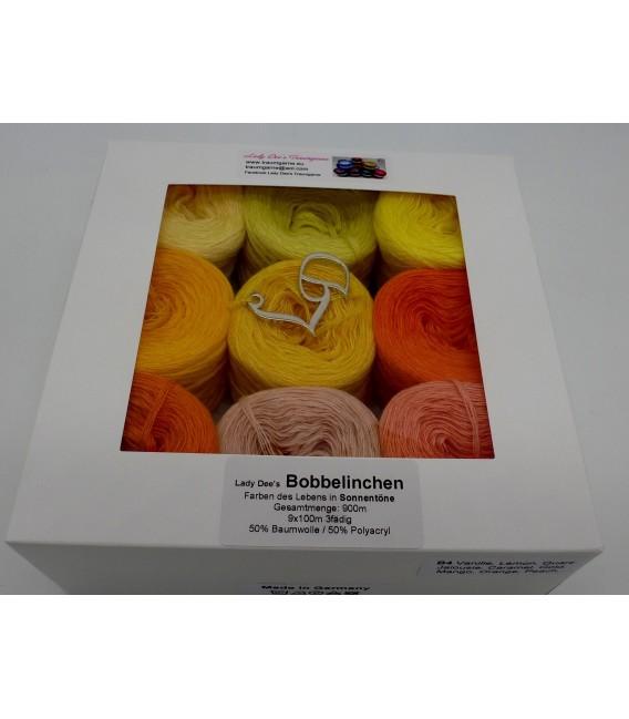 Un paquet Bobbelinchen Lady Dee's Farben des Lebens (Couleurs de vie) (4 fils - 900m) - Couleurs du solei - Photo 5