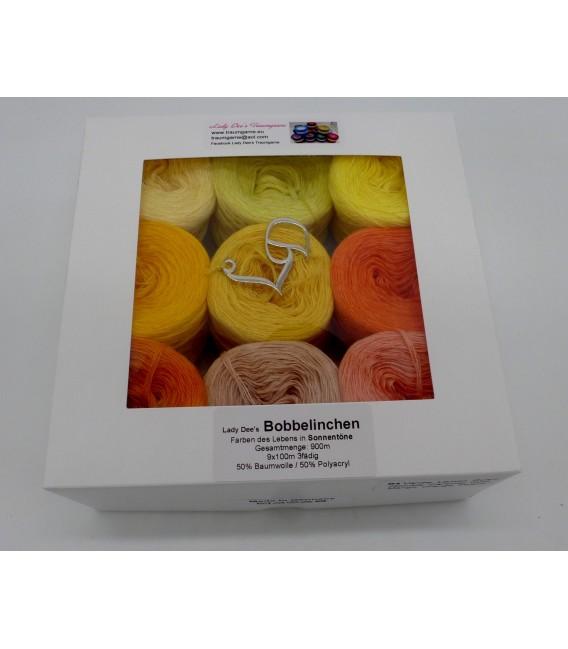Un paquet Bobbelinchen Lady Dee's Farben des Lebens (Couleurs de vie) (4 fils - 900m) - Couleurs du solei - Photo 6