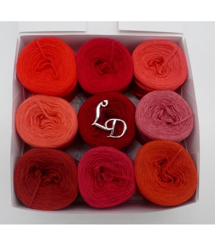 Rottöne Farbpalette farben des lebens (4fädig-900m) - rottöne - lady dee´s traumgarne export
